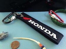 Embroidered Logo HONDA Fabric Keychain Key Strap Motorcycle Keyring Wrist Keyfob