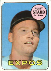 1969 Topps Minnesota Twins Baseball Card #230 Rusty Staub EX