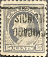 Scott #514 US 1917 15c Ben Franklin Precancel Postage Stamp XF Perf 11