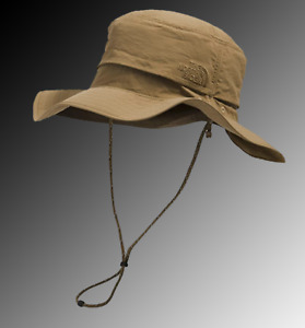 The North Face Horizon Breeze Brimmer Hat Tin Grey and British Khaki SIze. S/M