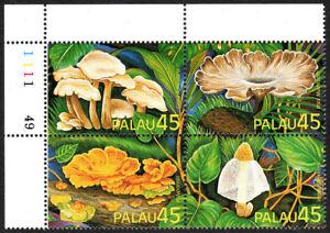 Palau 208-211a Bl/4, MNH. Mushrooms, 1989