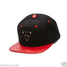 NEW Hater Snapback Hat  Leather Hip Hop Adjustable Black Chicago ONE SIZE