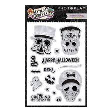 Scrapbooking Crafts Photo Play Stamps Matilda Godfrey Halloween Skulls Ghost Boo