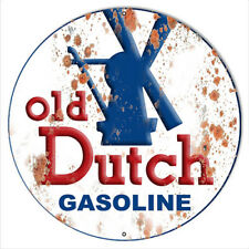 Old Dutch Gasoline Reproduction Vintage Man Cave Metal Sign 14x14