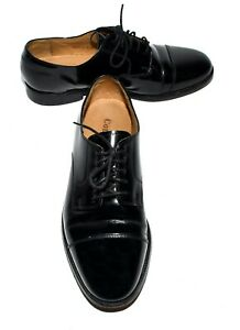 Cole Haan Black Patent Leather Cap Toes Mens Oxford Formal Dress Shoes Size 7.5M