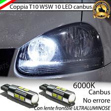 COPPIA LUCI POSIZIONE 10 LED VW GOLF 5 V CANBUS 100% NO ERRORE