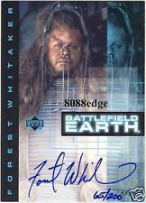 1999 BATTLEFIELD EARTH AUTO CARD: FOREST WHITAKER #65/200 AUTOGRAPH OSCAR WINNER