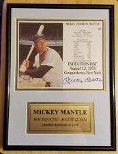Mickey Mantle Limited Edition Autographed HOF Induct.Plaque W/COA free shipping
