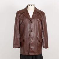 Men's EXCELLED Vintage Leather Jacket Size 42 M Medium