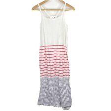 Sundry Dress Size 1 Womens Small White Blue Pink Stripe Racer Back Sleeveless