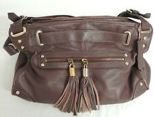 Ladies Dune Brown Leather Handbag - Good Condition -Thames Hospice