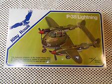Kitty Hawk Hasegawa Plane P-38 Lightning 7038 Grade A Jumbo Scale 1977 Sealed