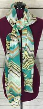 Women's Sheer Multi-Color Chevron Style Printed Scarf