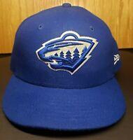 New Era NHL Minnesota Wild Royal Blue Fitted 7 1/4