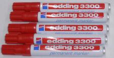 5 pcs Edding 3300 Permanent Marker Red Wedge Tip 1-5 mm felt-tip pen NEW