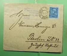 DR WHO 1912 AUSTRIA USED IN CANEA GREECE TO GERMANY  g21553