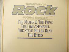 HISTORY OF ROCK volume thirteen Double lp set  byrds....33 rpm vinyl