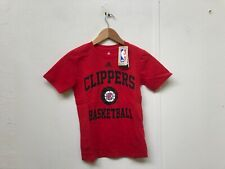 adidas Women's NBA Los Angeles Clippers Club Logo T-Shirt - UK 8 - Red - New