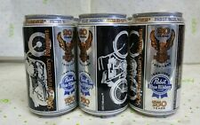 Harley Davidson Pabst Blue Ribbon 90th Anniversary Reunion 6 Pack Beer Cans