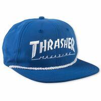 Thrasher Magazine Logo Rope Skateboard Logo Hat Snapback Cap Mens Blue New