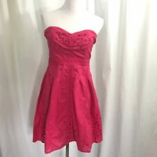 Urban Outfitters Pins and Needles Pink Eyelet Strapless Cotton Dress L