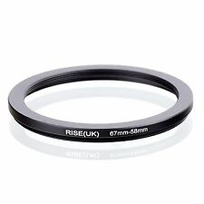 RISE(UK)  67-58MM 67 MM- 58MM 67 to 58 Step Down Ring Filter Adapter