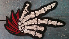 XL-Patch Hand Skelett Knochen Horror Fantasy Bügelbild Applikation