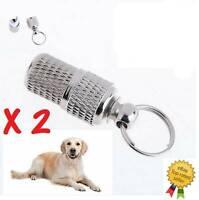 Anti-Lost Pet Dog Cat Puppy ID Address Name MINI Labels Tags Barrel Tube Collar~