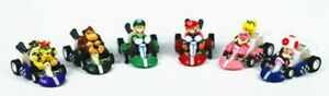 """Set of 6 Mario Kart Pull Back and Go Racers Figures 1.5 - 2"""" in size - NEW"""
