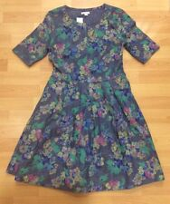 Gap Denim Dress With Floral Pattern, Gap Size 0 / Uk 4 / Eu 32 New With Tags