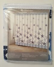 Nautical Ocean Beach House Fabric Shower Curtain Shell Starfish Coastal NEW