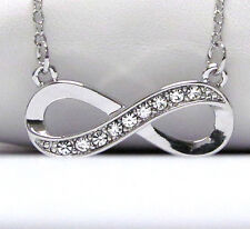 Infinity Eternity Love Forever Crystal Designer-Style Infinity Symbol  Necklace