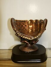 Softball Trophy Bronze Ball Holder