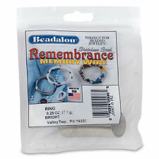REMEMBRANCE MEMORY WIRE, Ring 49 coils .62mm Bright