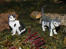 "Retired Schleich Cat Figurines for 5.5"" Nativity Scene Dollhouse Pesebre Gatos"