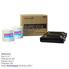 DNP Sony 2UPC-C14 4x6 Color Print Pack For UPCR10L Snap Lab SL10 UPCX1 Printers