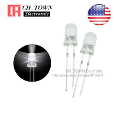 100pcs 5mm Water Clear Self White Light Blink Blinking Flash Led Diodes Lamp Usa