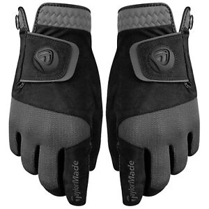 2021 TaylorMade Mens Rain Control Golf Gloves Wet Grip All Weather Pair Pack