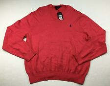 Polo Ralph Lauren Men's Pima Cotton Ribbed V-Neck Pullover Sweater Size 2XL Pink