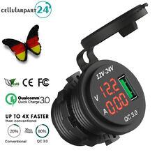 12V/24V Auto Zigarettenanzünder Steckdose Adapter QC3.0 USB Ladegerät Verteiler