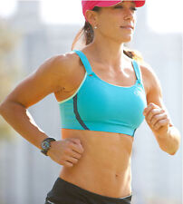 Jubralee Bra by Moving Comfort sports AQUA BLUE 30C 30 C NEW HIGH IMPACT RUN