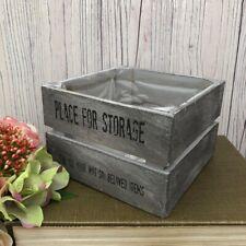 Wooden Crate Rustic Market Trug Vintage Vegetable Storage Planter Box Hamper