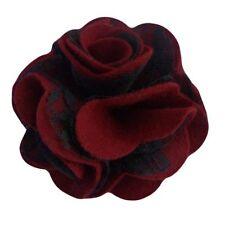 Pince à cheveux broche fleur feutrine bordeaux dentelle noire soirée mariage