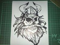 Bearded Skull Viking STICKER Car Bumper Window Laptop Wall VINYL DECAL STICKER