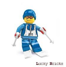 LEGO® City Figur Skifahrer  mit ein Paar Ski  2 Skistöcke Nr.40