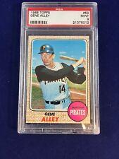1968 Topps Gene Alley #53 PSA 9 Pittsburgh Pirates