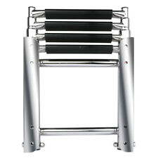 Marine Telescopic &Folding 4 Steps Boat Ladder Stainless Steel Heavy Duty Ladder