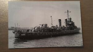 Postkarte Marineschiff USS Duncan DD-485 von 1942 ungelaufen