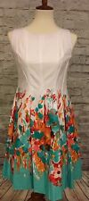 Be By Chetta B Womens Petite Dress Size 4P White/multi