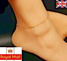 UK New Crystals Stainless Steel Rhinestone Bohemian Anklet Bracelet Jewellery